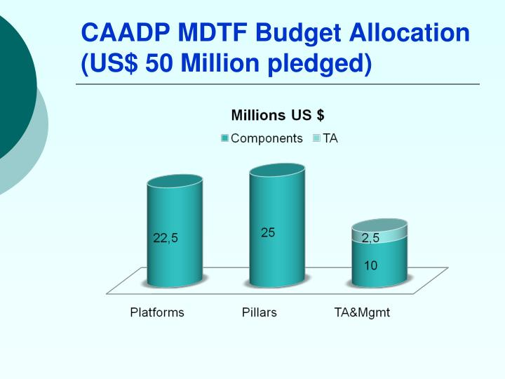 CAADP MDTF Budget Allocation