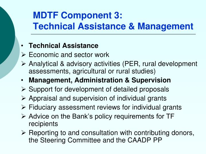 MDTF Component 3: