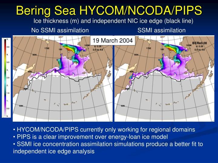 Bering Sea HYCOM/NCODA/PIPS