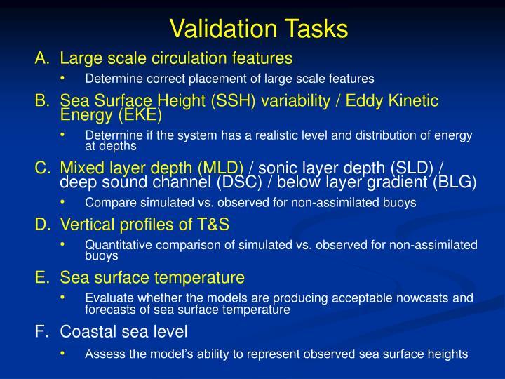 Validation Tasks