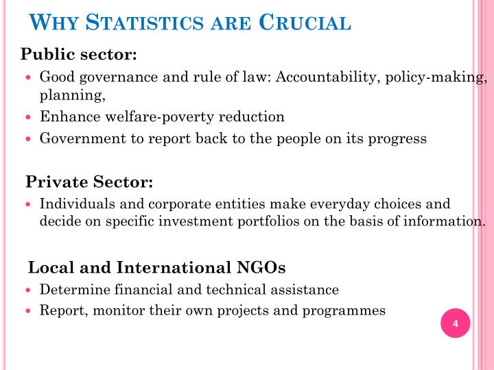 Why Statistics are Crucial