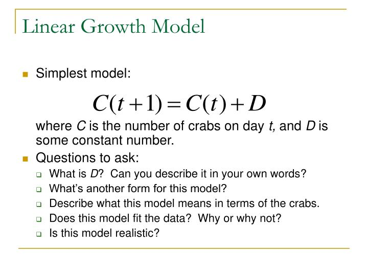 Linear Growth Model