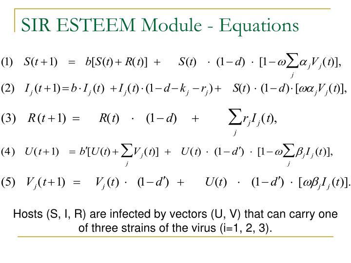 SIR ESTEEM Module - Equations