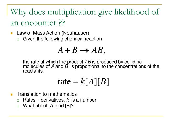 Why does multiplication give likelihood of an encounter ??