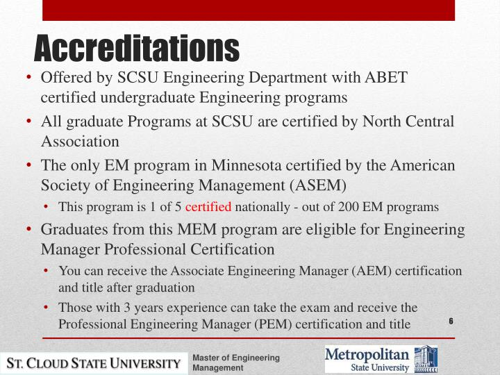 Offered by SCSU Engineering Department with ABET certified undergraduate Engineering programs