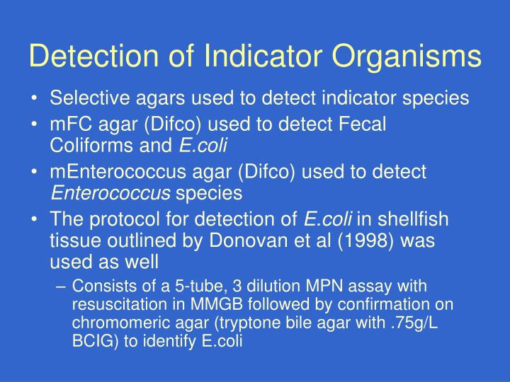 Detection of Indicator Organisms