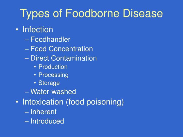 Types of Foodborne Disease