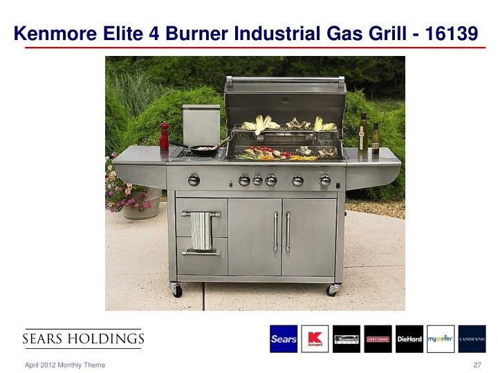 Kenmore Elite 4 Burner Industrial Gas Grill - 16139