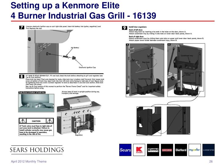 Setting up a Kenmore Elite