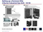 setting up a kenmore elite 4 burner industrial gas grill 161391