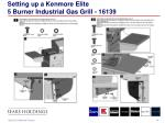 setting up a kenmore elite 5 burner industrial gas grill 16139