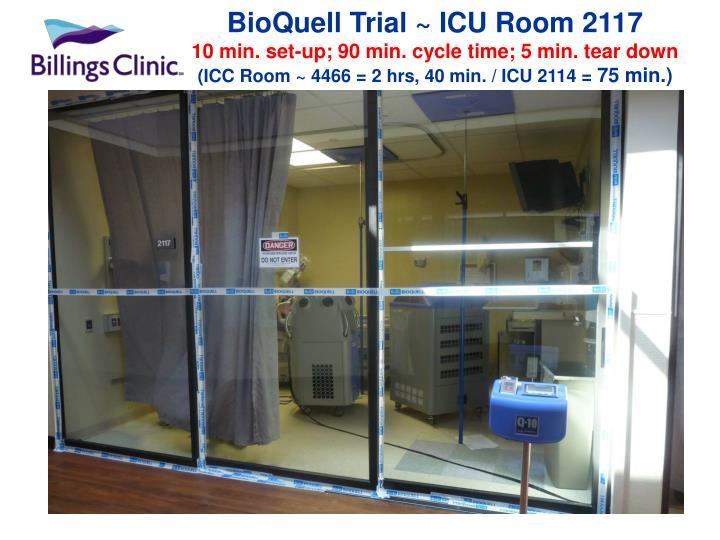 BioQuell Trial ~ ICU Room 2117