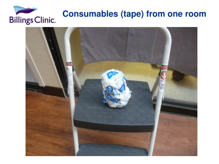 Consumables (tape) from one room