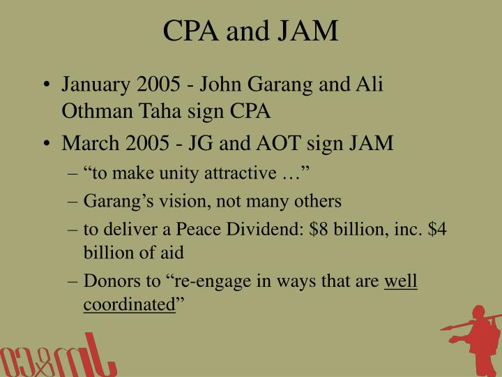 CPA and JAM