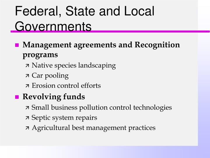 Federal, State and Local Governments