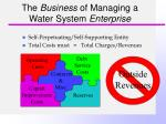 the business of managing a water system enterprise