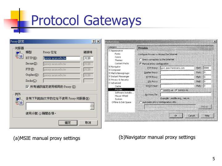 Protocol Gateways