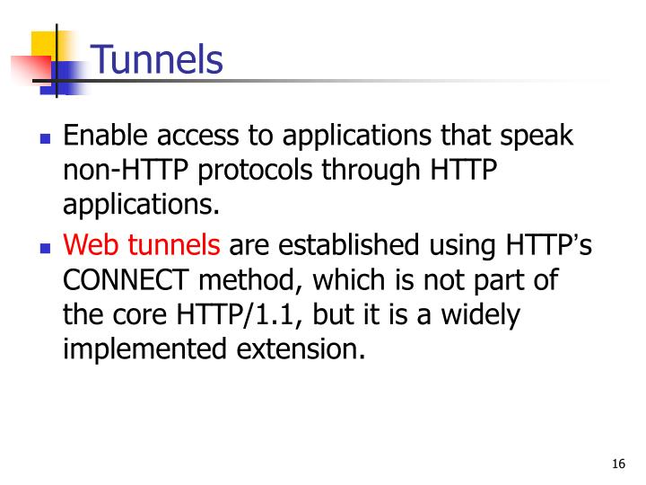 Enable access to applications that speak non-HTTP protocols through HTTP applications.