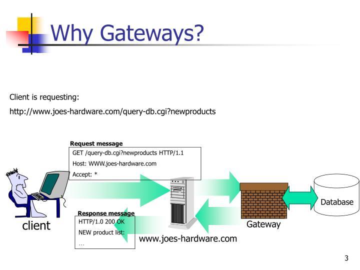 Why Gateways?
