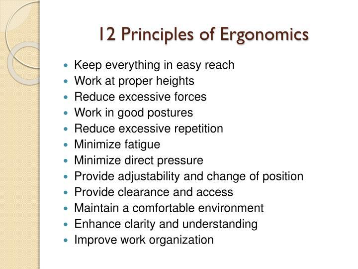 12 Principles of Ergonomics
