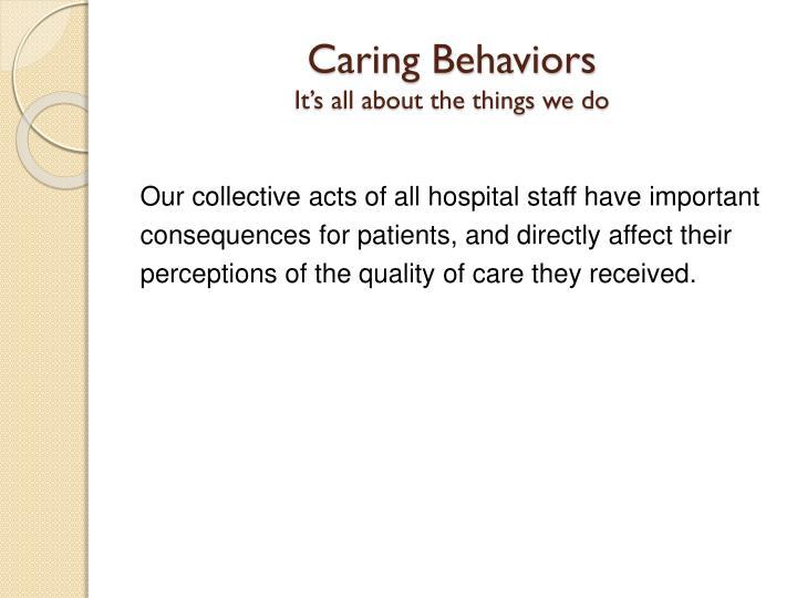 Caring Behaviors