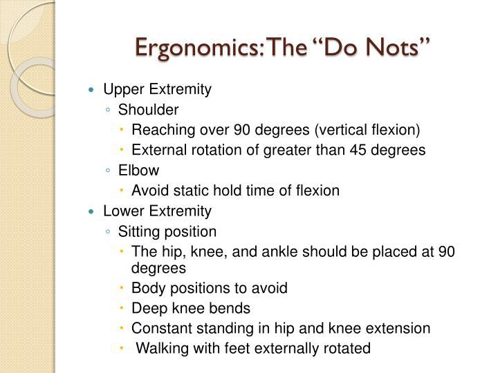"""Ergonomics: The """"Do"""
