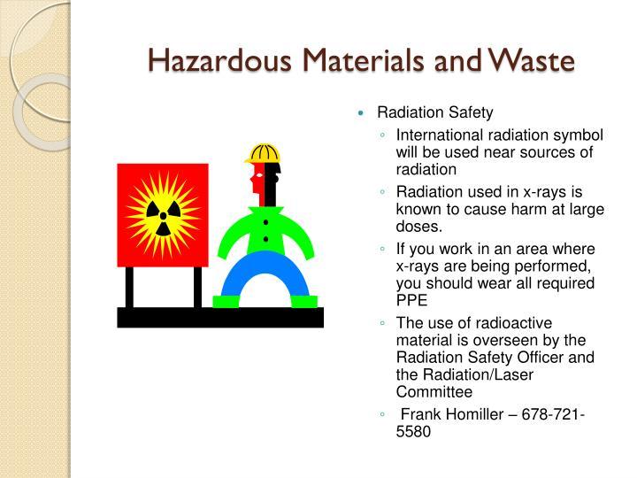 Hazardous Materials and Waste