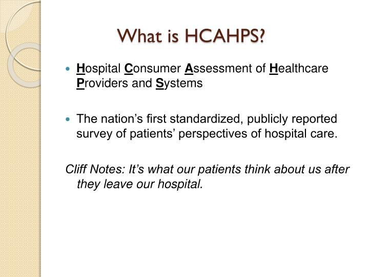 What is HCAHPS?