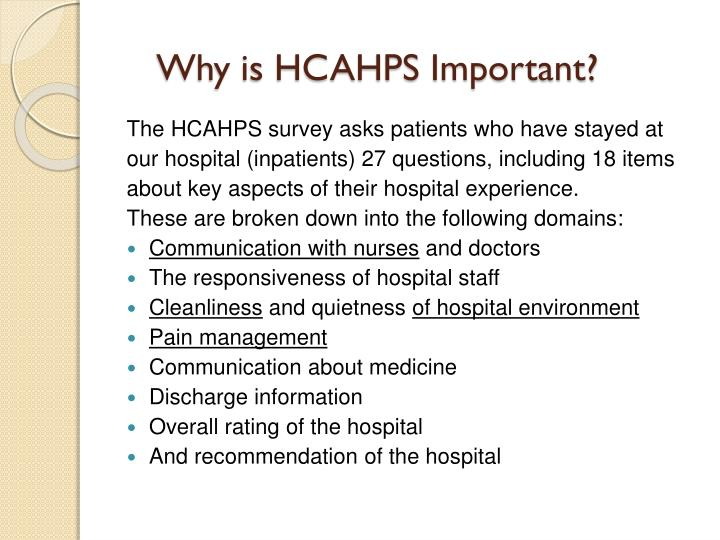 Why is HCAHPS Important?