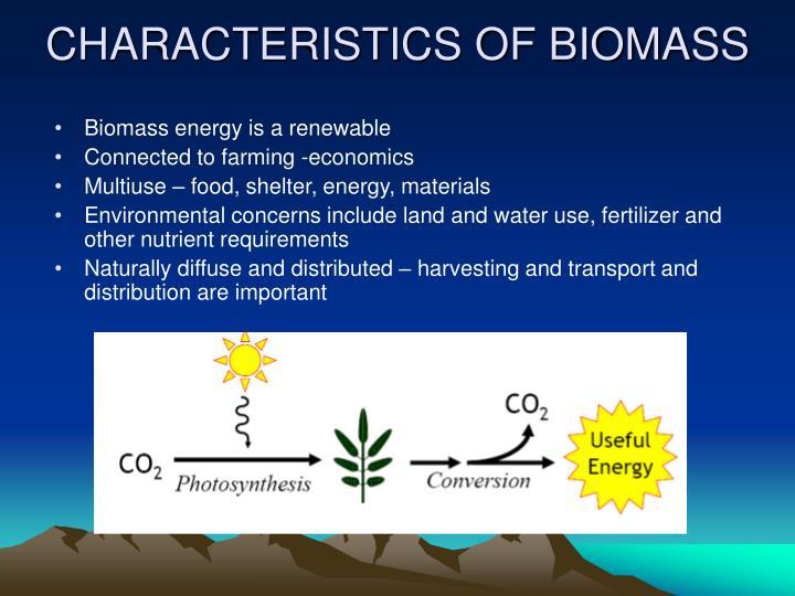 CHARACTERISTICS OF BIOMASS