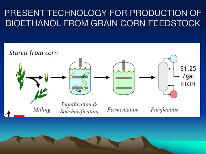 PRESENT TECHNOLOGY FOR PRODUCTION OF BIOETHANOL FROM GRAIN CORN FEEDSTOCK