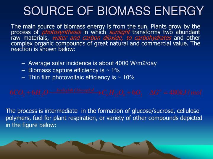 SOURCE OF BIOMASS ENERGY