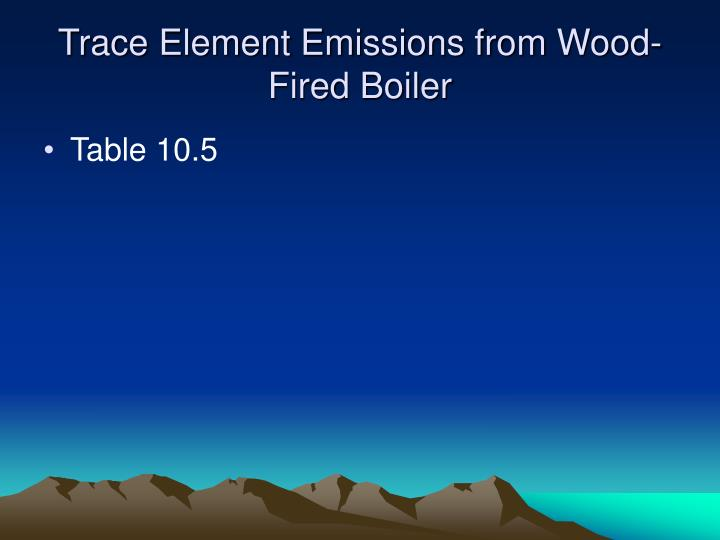 Trace Element Emissions from Wood-Fired Boiler