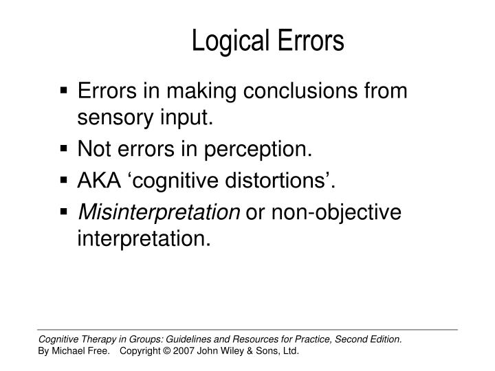 Logical errors