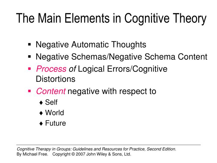The Main Elements in Cognitive Theory