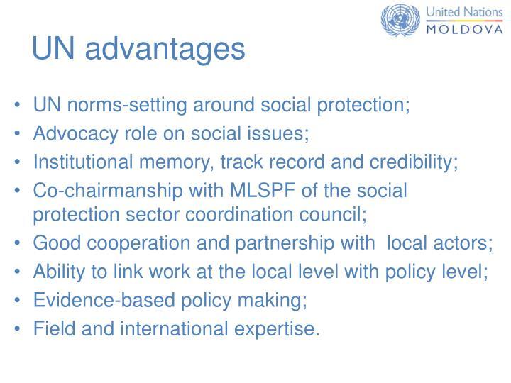 UN advantages