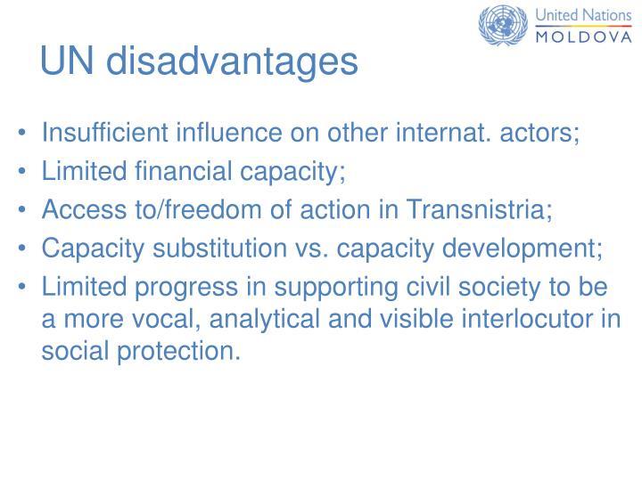 UN disadvantages