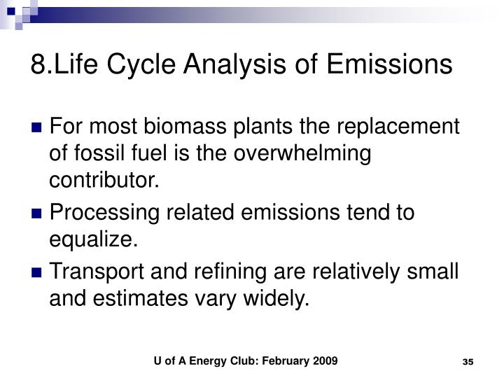 8.Life Cycle Analysis of Emissions