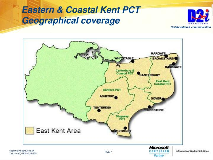 Eastern & Coastal Kent PCT Geographical coverage