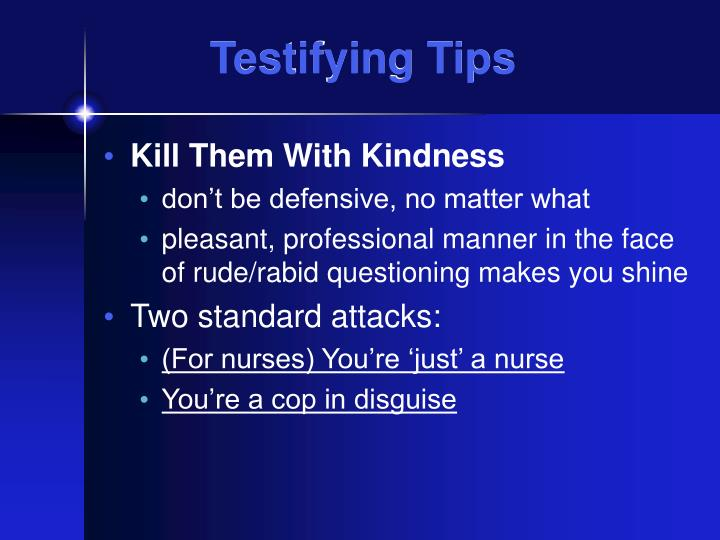 Testifying Tips