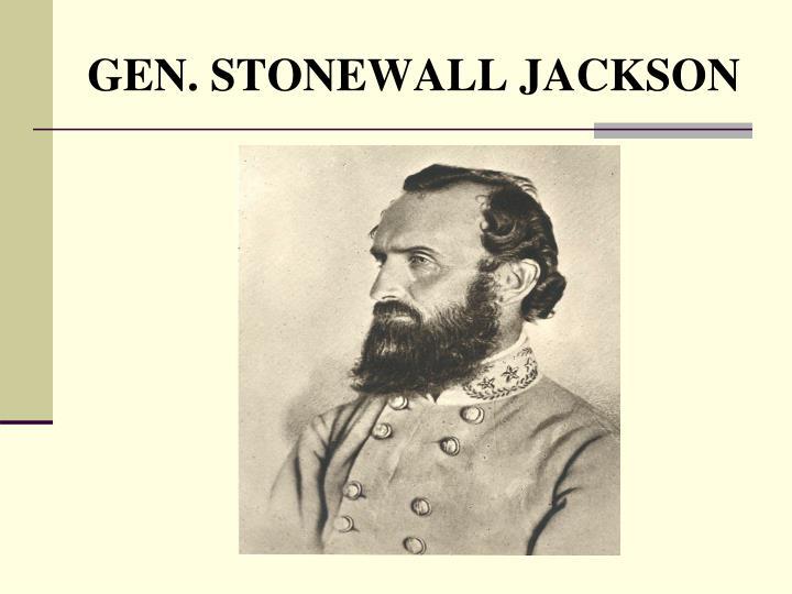GEN. STONEWALL JACKSON