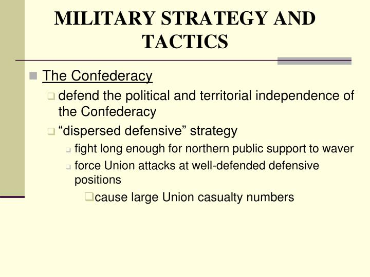 MILITARY STRATEGY AND TACTICS