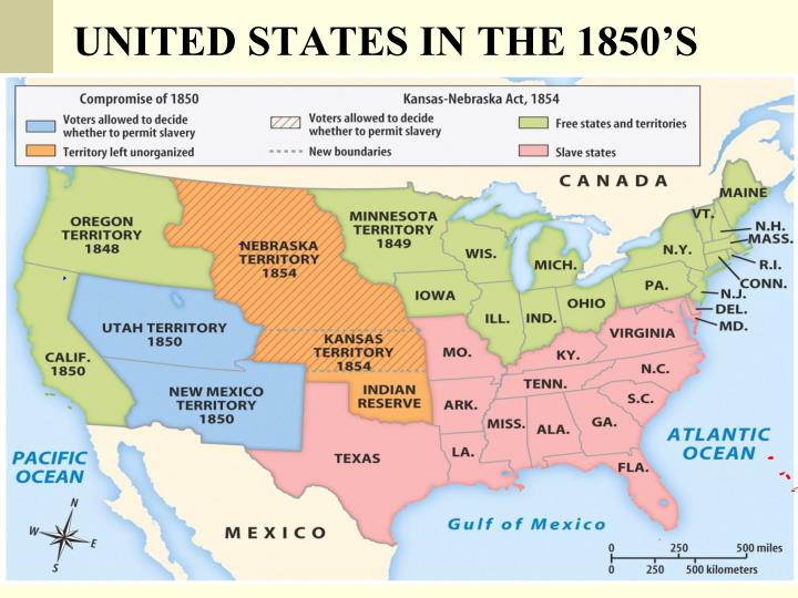 UNITED STATES IN THE 1850'S