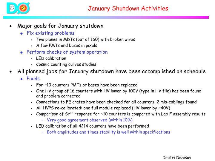 January Shutdown Activities