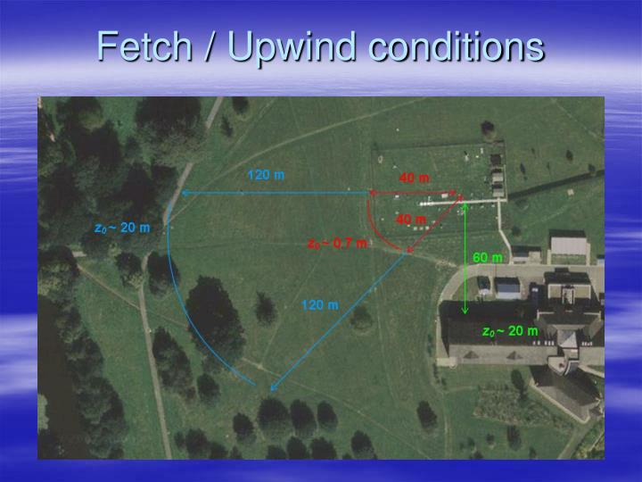Fetch / Upwind conditions