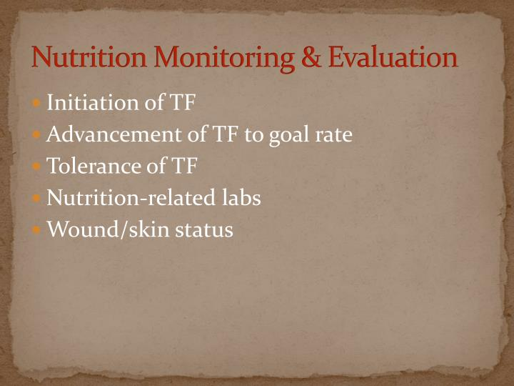 Nutrition Monitoring & Evaluation