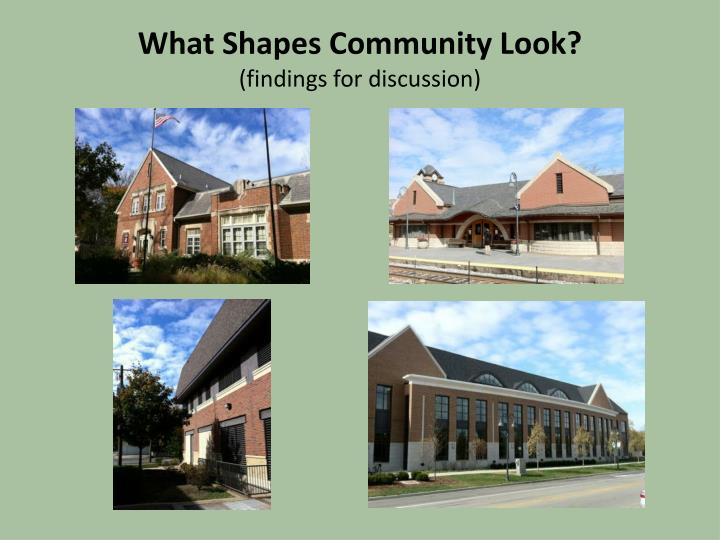 What Shapes Community Look?
