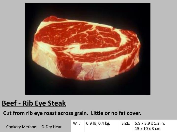 Beef - Rib Eye Steak