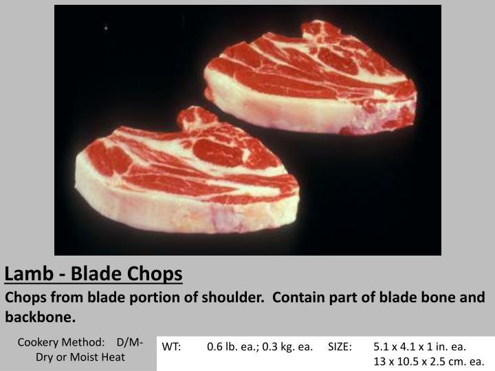 Lamb - Blade Chops