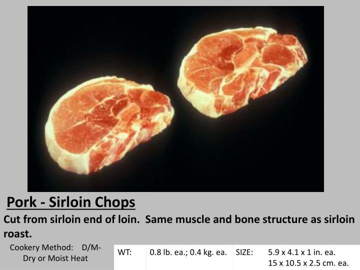 Pork - Sirloin Chops